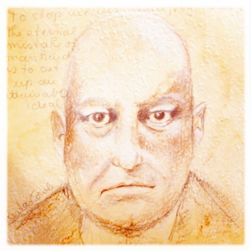 Zeichnung Aleister Crowley, Spirit Guide Felix Zirkel