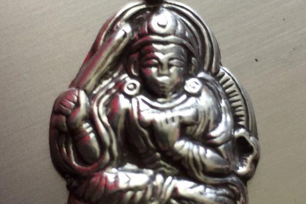 Silber, Anhänger, Buddha