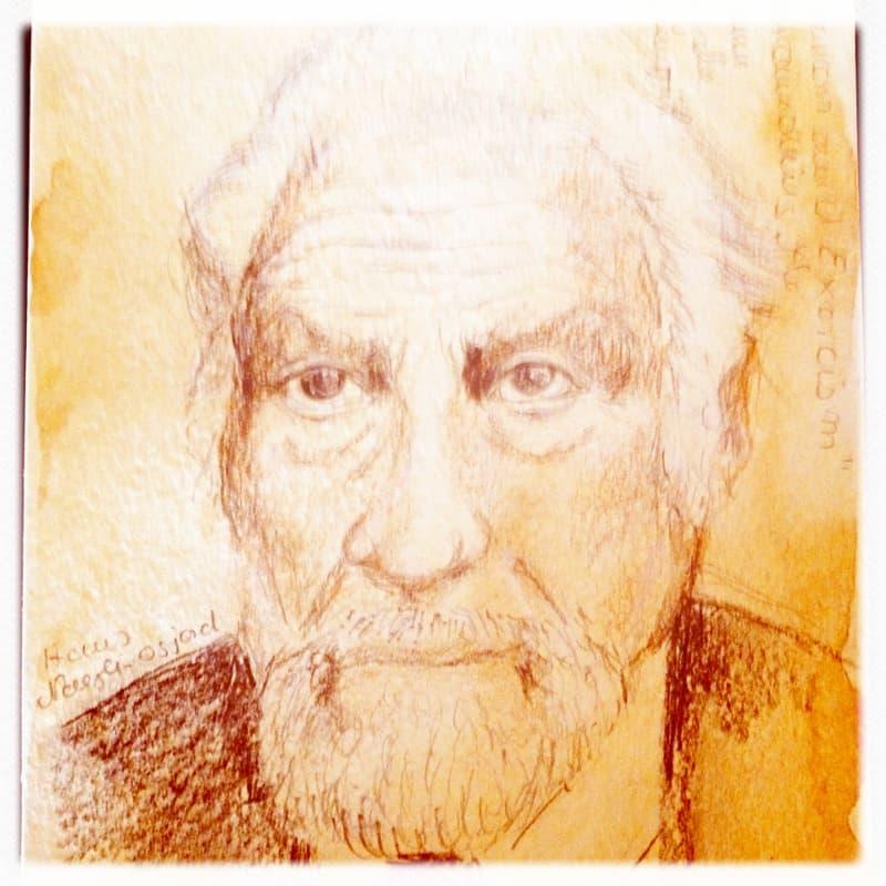 Zeichnung Prof. Dr. Hans Naegeli-Osjord, Spiritguide, Felix Zirkel