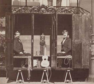 Davenport cabinet, spirit cabinet